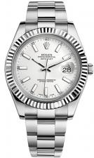 Datejust II 41mm Steel and White Gol