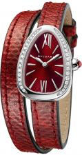 Serpenti Steel with Diamonds Red