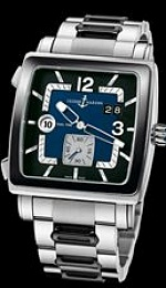 Quadrato Dual Time Stainless Steel