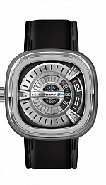 SevenFriday Square Silver And Black Dial