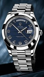 Day-Date II Blue Wave Dial Automatic Platinum