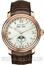 Léman Moon Phase Complete Calendar 38mm Half-Hunter
