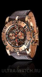 Collection Lady 18kt  Gold Brown Leather Ladies Watch