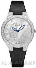 Watches Butterfly Silhouette 38 mm white gold & diamond with mother of pearl dial