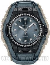 Big Bang One Click Frosted Carbon Diamonds 39 mm