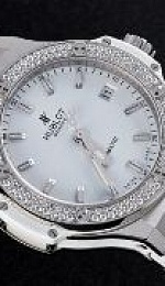 Steel All White Diamonds Automatic