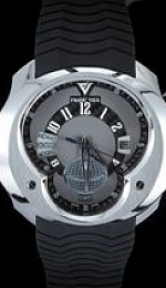 Universal Time Zone (UTC) World Timer GMT - Black Carbon Fiber w.Gray Indices