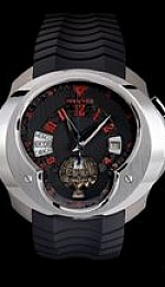 Universal Time Zone (UTC) World Timer GMT - Black Meteorite